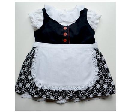 Free pattern: Girl's dress apron