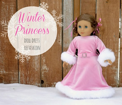 "Tutorial: Size a baby dress down to fit an 18"" doll"