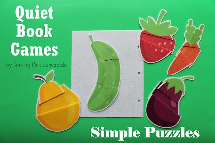 Tutorial: Fabric puzzle quiet book page or flannel board game
