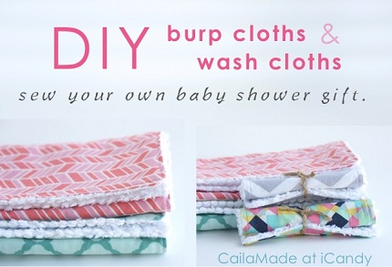 Tutorial: Chenille backed wash cloths and burp cloths
