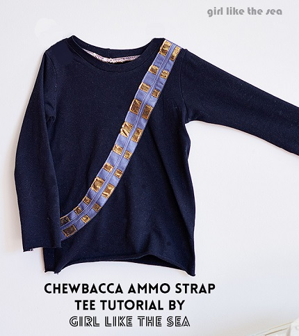 Tutorial: Chewbacca ammo strap t-shirt