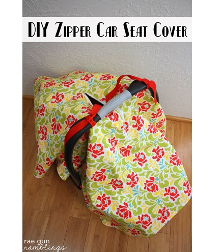 Tutorial: Zipper car seat cover