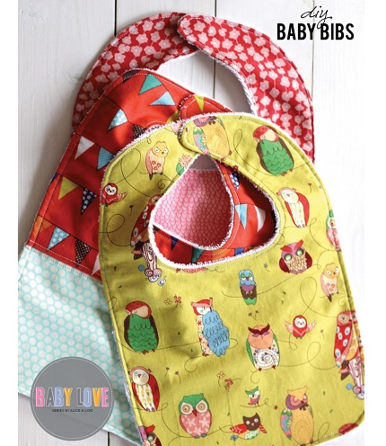 Free Pattern Baby Bib With A Terry Cloth Backing Sewing