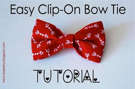 Tutorial: Easy clip-on bow tie for a child