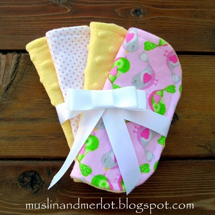 Tutorial Minky And Flannel Mini Burp Cloths Sewing