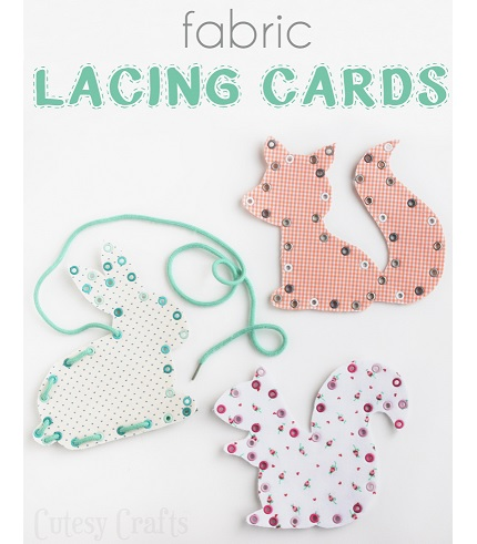 Tutorial: DIY fabric lacing cards
