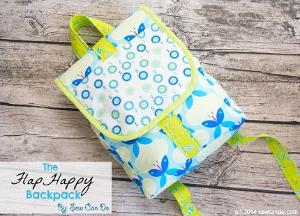 Tutorial Flap Happy Backpack For Kids Sewing