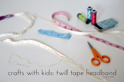 Tutorial: Easy twill tape headbands, make them with your kids