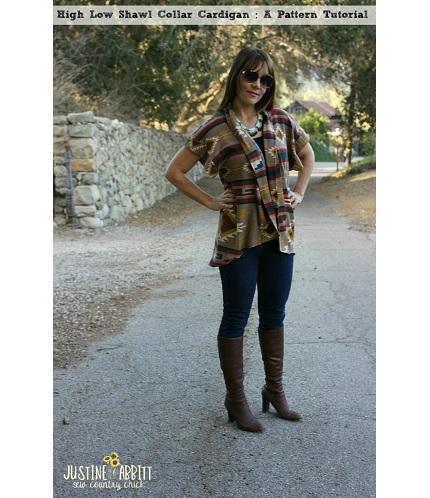 Tutorial: High low shawl collar cardigan