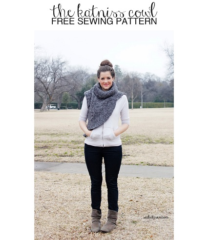 Free pattern: Katniss cowl sweater refashion