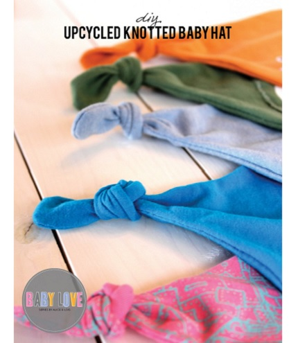 Tutorial: Make a knotted baby hat from a t-shirt