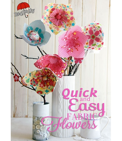 Free pattern: No-sew fabric flowers – Sewing