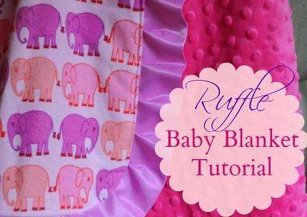 Tutorial: Minky ruffle baby blanket