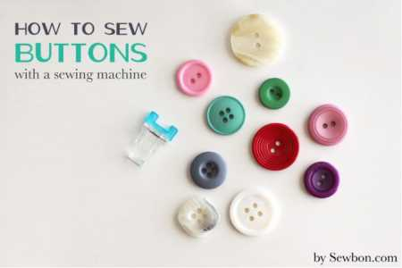 Tutorial: Sew buttons down using your sewing machine