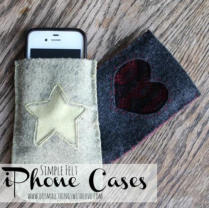 Tutorial: Simple felt phone sleeve