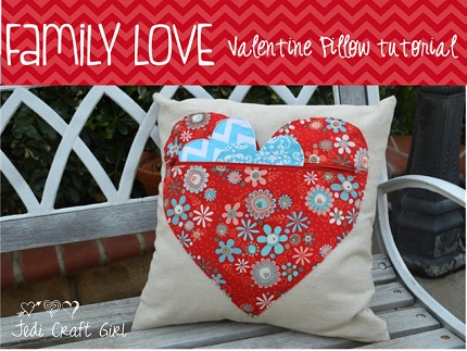 Tutorial: Family Love heart pocket throw pillow