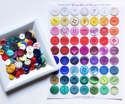 Freebie: Printable vintage button labels