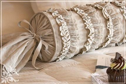 Tutorial: Ruffles and Romance Neckroll Pillow