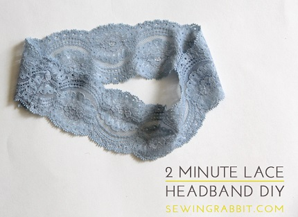 Tutorial: Super easy 2-minute lace headband