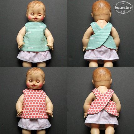 Tutorial: Reversible pinafore for a doll