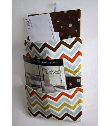 Tutorial Hanging Letter Organizer Sewing