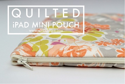 Tutorial: Quilted iPad mini pouch
