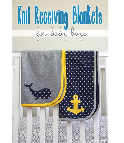 Tutorial: Lightweight knit receiving blanket with contrast binding