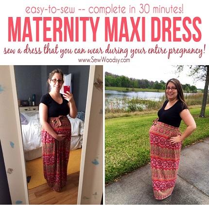 Tutorial: Maternity maxi dress