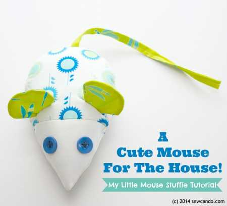 Free pattern: Little Mouse Stuffed Toy – Sewing