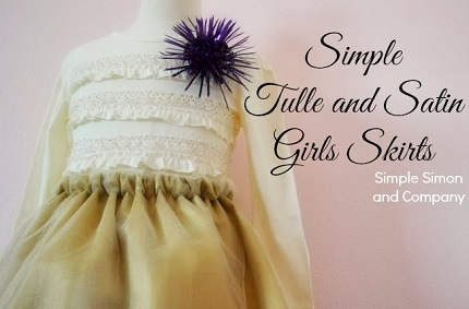 Tutorial: Little girl's satin and tulle skirt
