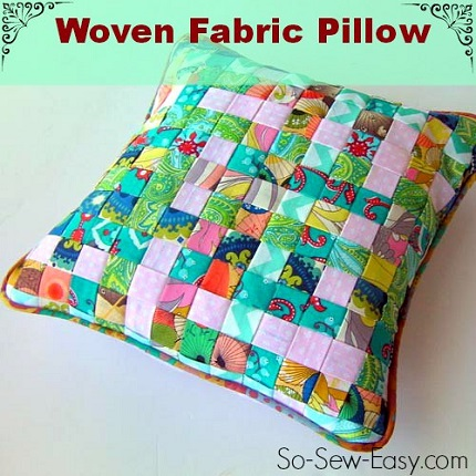 Sew Decorative Pillow Fabric : Tutorial: Woven fabric pillow cover ? Sewing