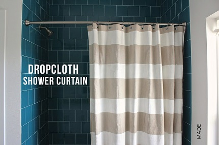 Tutorial Striped Shower Curtain From A Drop Cloth Sewing