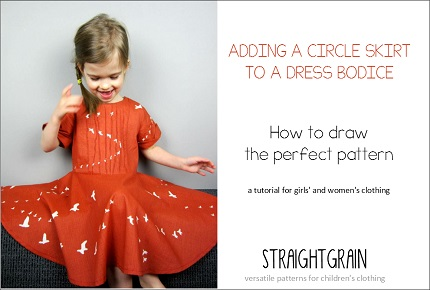 Tutorial: Add a circle skirt to a dress bodice