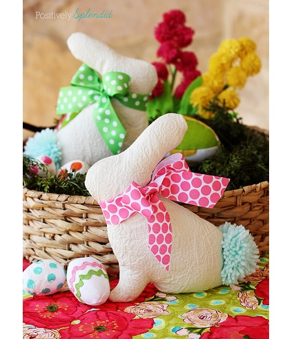 Free pattern: Easter bunny softie – Sewing