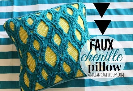 Tutorial: Modern faux chenille pillow