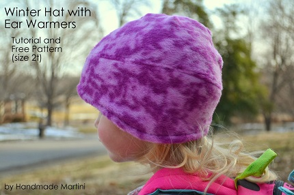 Free pattern: Toddler\'s fleece ear warmer winter hat – Sewing