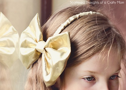 Tutorial: Big bow headband