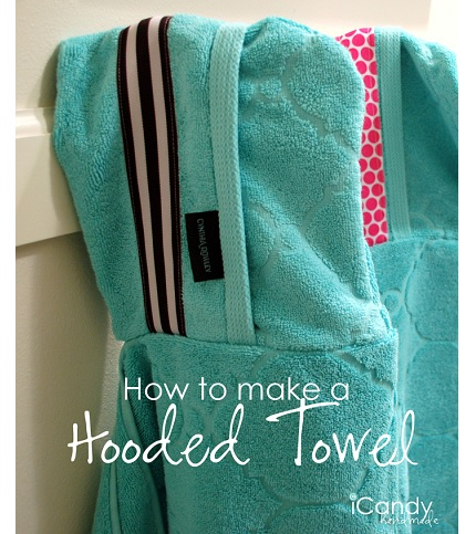 Tutorial: Make a hooded towel