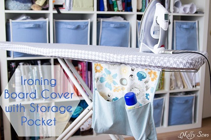 Tutorial ironing board cover with storage pocket sewing for Rb storage
