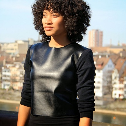 Tutorial: Faux leather sweater