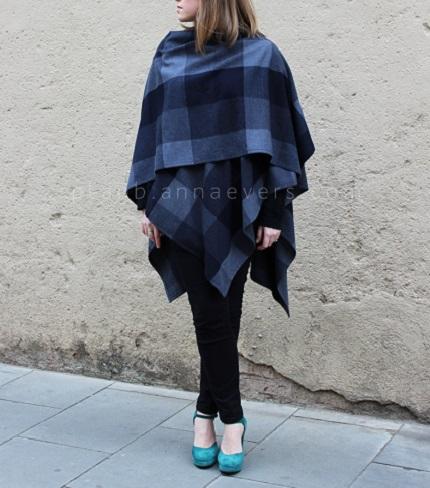 Tutorial: DIY ruana shawl wrap – Sewing