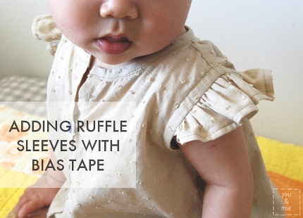 Tutorial: Ruffle sleeves finished with bias