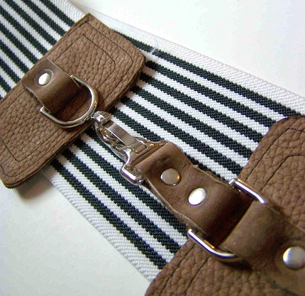 Tutorial: Wide elastic and leather belt