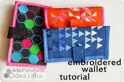 Tutorial: Embroidered fabric wallet