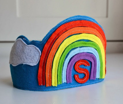 Felt Rainbow Birthday Crown_DIY