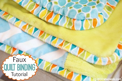Tutorial: Faux blanket binding