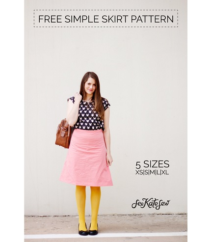 Free pattern: Simple A-line skirt