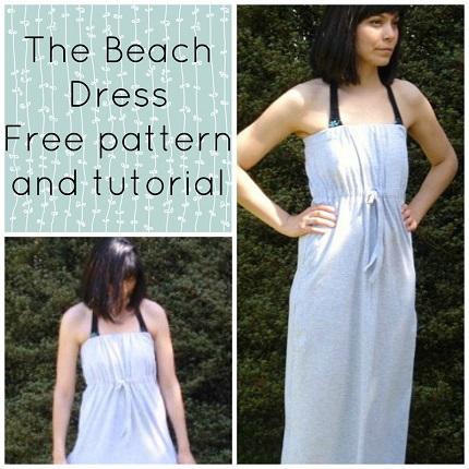 Free pattern: Strapless Maxi Beach Dress