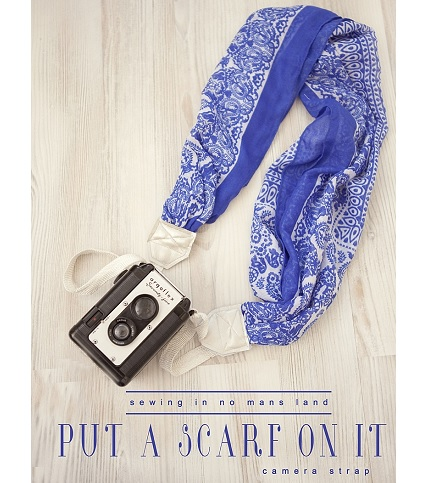 Tutorial: Pretty scarf camera strap