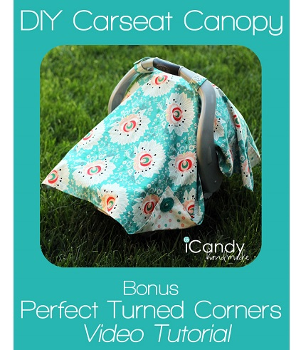 Tutorial: Car seat canopy with perfect turned corners